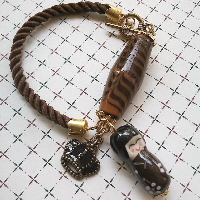 Sweet Japanese girl Rp50.000 Http://koleksikikie.com/toko  #gelanghandmade #gelangmanik #beads #aksesoris #bracelet #handmadeaccesories #handmadebracelet #handmadejewelery