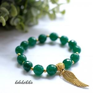 gelang-batu-hijau-tua